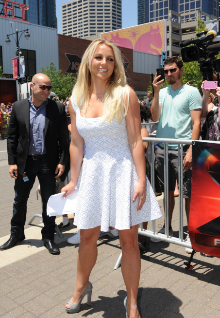 britney spears white alaia dress x factor