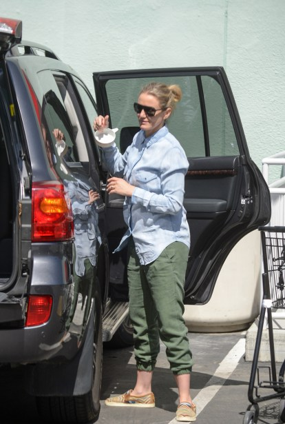 cameron diaz pregnant baby bump weight 02 7079f