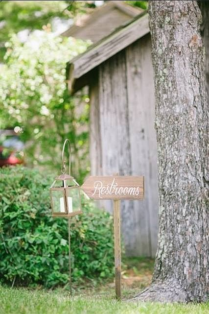 Stake wooden signs mark key locations 1 eac6c