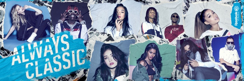 5 Reebok Classic Collage