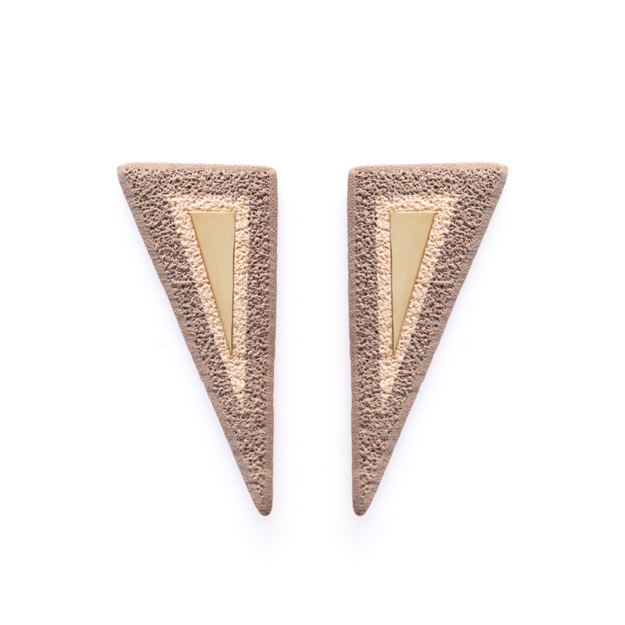 LimeLight jewelry collection by Katerina Sfinari geometric modern polymer clay handmade earrings