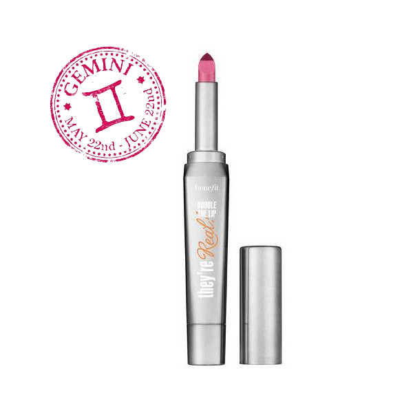 3. Benefit Theyre Real Double the Lip στην απόχρωση Pink Thrills